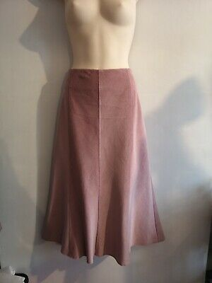 Marks and Spencer - Per Una - Pale Pink Corduroy Skirt Size 16 Reg - Brand New