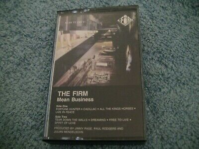 The Firm--Mean Business--1986 Cassette--Paul Rodgers & Jimmy Page
