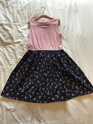 Girls cherry dress by blue zoo. Pink And Navy blue aged 7-8 years