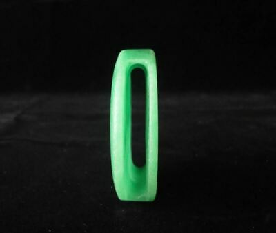 Fine Old Chinese Natural Green Jadeite Hand Carving Emerald Belt Buckle