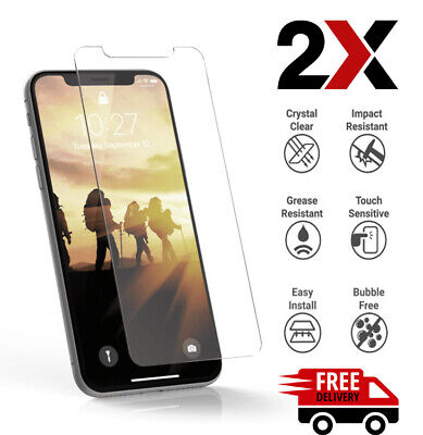 2XAnti Scratch Tempered Glass Screen Protector Apple iPhone 11 Pro XS Max XR