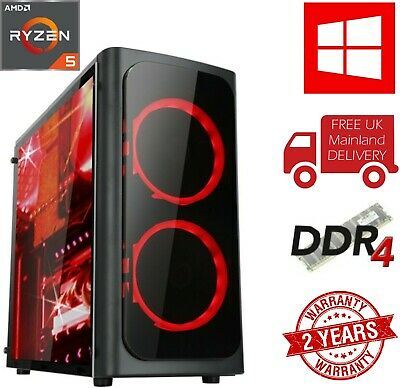 ULTRA FAST Gaming PC AMD Ryzen 5 2400G Quad Core 3.6GHz 8 GB 1TB Vega Graphics