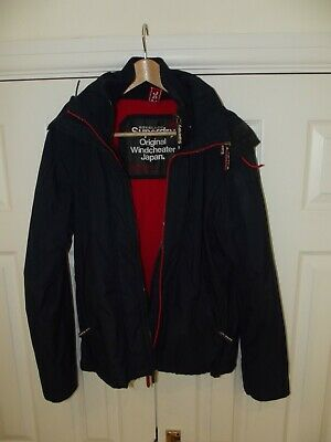 Superdry Windcheater Hooded Jacket - Navy Blue - Large