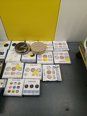Assorted Karlsson clocks roughly 40+ / Raw Returns / Spares/ Job Lot