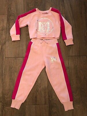 Girls Pink Mckenzie Tracksuit Set 4-5years