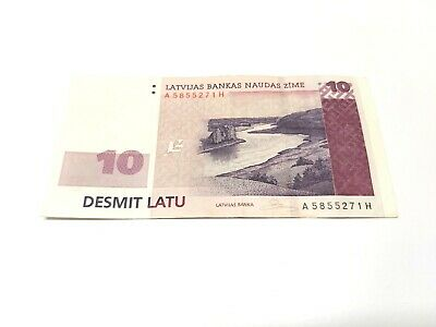 UNC 20 Lati P-55b 20 Lats Uncirculated Banknote of the Bank of Latvia 2009