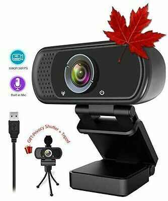 1080P Webcam,Live Streaming Web Camera with Stereo Microphone, Desktop or Lap...