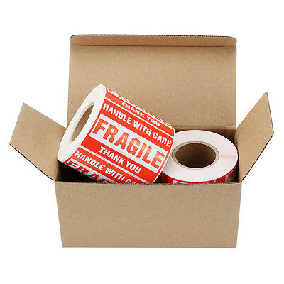 2 Rolls 500/Roll 2x3 Fragile Stickers Handle with Care Thank You Mailing Labels
