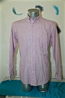 Pretty Shirt Pink Striped Façonnable Size 3 15 1/2r like New