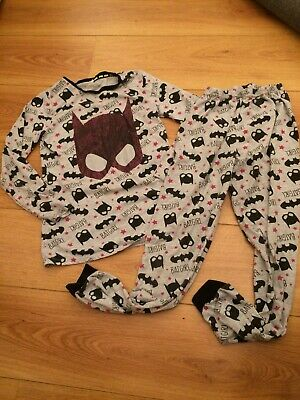 Girls Bat Girl Pyjamas Age 10-11 Years