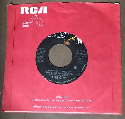 THE CRY- What Becomes Of The Broken Hearted & The Last Lonely One 45 -RCA