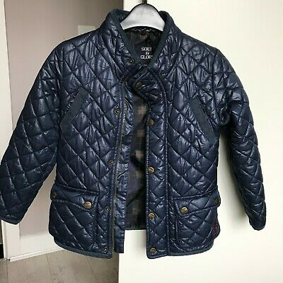 Boys Girls Blue Padded Jacket Navy Quilted Jacket 5-6 Years Great For School