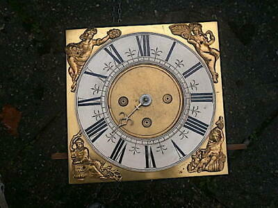 C1750 30hr   LONGCASE GRANDFATHER CLOCK DIAL+movement 10 inch