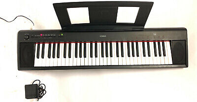 Yamaha Piaggero NP-12 Ultra-Portable Digital Piano + Stand, Sustain Pedal