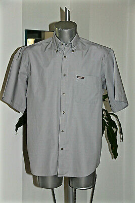 Short Sleeves Shirt Cotton Grey Marlboro Classics Size Large Mint