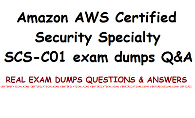 Amazon AWS Certified Security Specialty SCS-C01 exam dumps Q&A