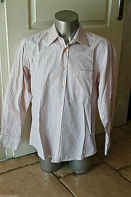 Shirt Pink Striped Black Label Hugo Boss Size 41 - 16 (L) Mint