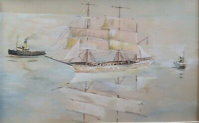 ANTIQUE SEASCAPE/NAUTICAL WATERCOLOUR PAINTING - LATE 19th/EARLY 20th CENTURY