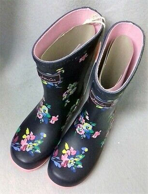 Joules Junior Welly Roll Up Navy Spaced Ditsy Wellington Wellies BNWT Child Sz 2