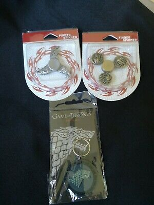 Game of Thrones x2 Spinners Metal Anti Stress Toy & Keychain