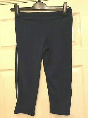 Girls Cropped Running Bottoms Joggers Ronhill Sports Jogging Crops Blue Age11-12