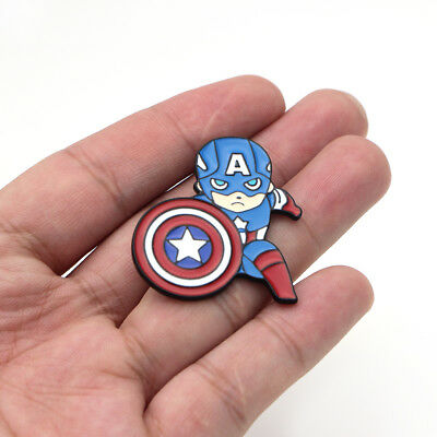 Marvel Avengers Captain America Shield Suit Clothing Brooch Pin Cartoon Gift Bag