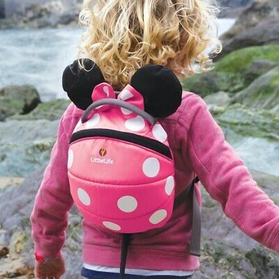 Little Life Pink Minnie Mouse Backback with reins strap