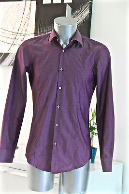 Pretty Shirt Violet Hugo Boss Black Label Size 38 15 Slim Fit like New