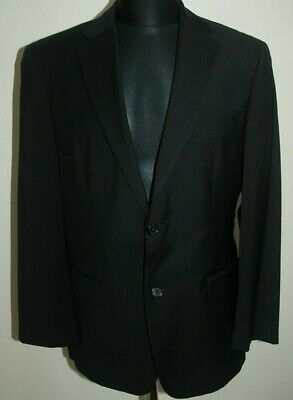Hugo Boss Jacket Suit Blazer Paolini Black Wool Two Buttons Double Vents 38 48 S