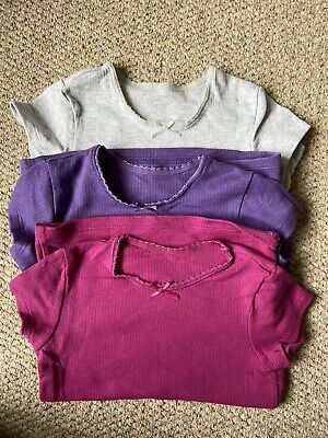 Girls Pack Of 3 Shirt- Sleeved Thermal Vests By Marks and Spencer Age 5-6 Years