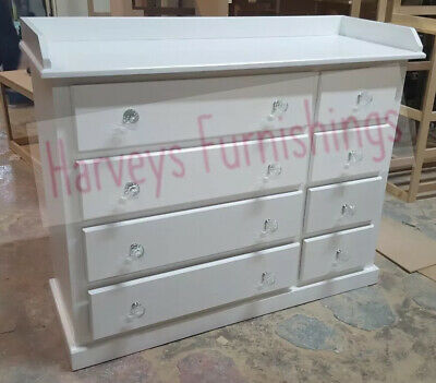 Handmade Dewsbury 8 Drawer Large Storage Chest With Baby Napping Changing Top