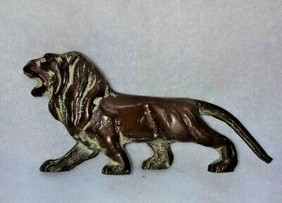Brass small lion statue missing tail tip
