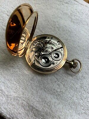 high grade WALTHAM RIVERSIDE 16 size GOLD FILLED running POCKET WATCH