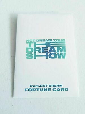 """K-POP NCT DREAM Concert """"THE DREAM SHOW"""" Official Limited Fortune cared cover"""