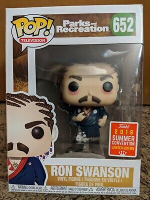 Funko Pop! Cornrows Ron Swanson Parks & Recreation SDCC Summer Con 2018 Excl MIB