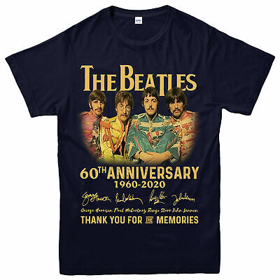 The Beatles 60th Anniversary T-shirt, Rock Band, The Beatles Gift Top