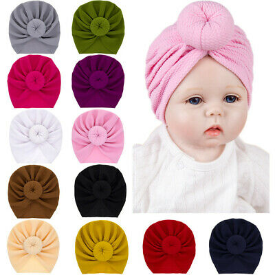 Newborn Infant Baby Hat Boy&Girl Solid Knotted Beanie Headwear Toddler Cap Hat