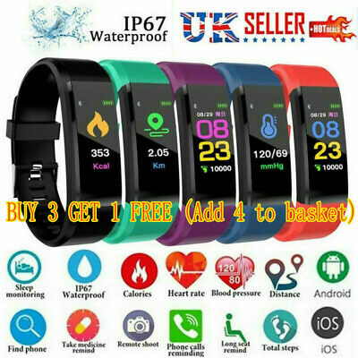 Fitness Smart Watch Activity Tracker Fitbit Android iOS Heart Rate Women Kids`
