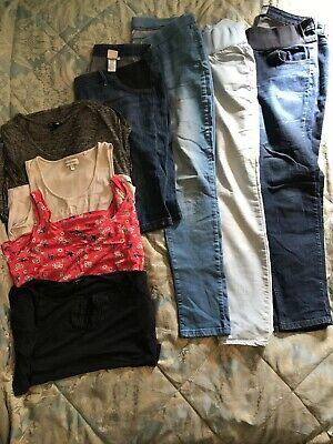 Size 16 Maternity Bundle, Jeans, Cropped Jeans/Shorts  & Tops