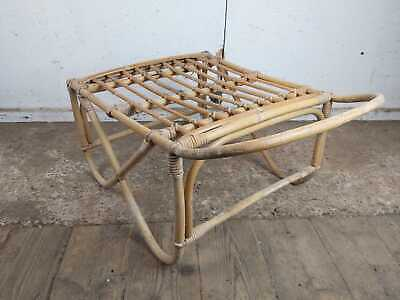 Bamboo Rectangle Foot Stool Rest Vintage
