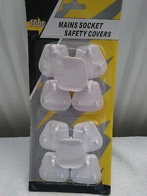 Plug Socket Safety Covers Pack of 10 Brand New