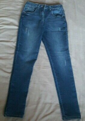 Girls 'April' Blue Denim Distressed Skinny Jeans From Matalan Aged 11 Years