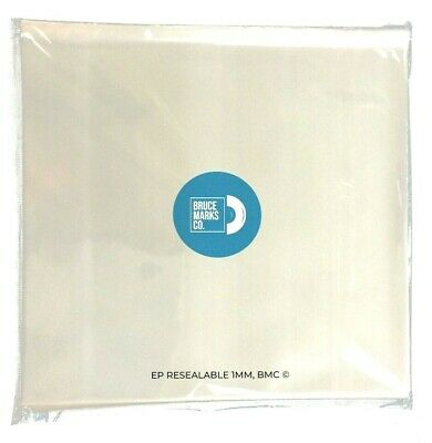 100 Resealable 45 RPM Vinyl Record Bags Plastic Outer Sleeves Cover 1 MIL