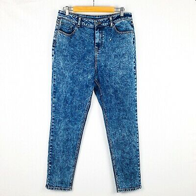 SIMPLY BE *BNWOT* Blue Acid Wash Denim Slim Stretch Jeans Size 18