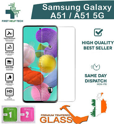 For Samsung Galaxy A51 Tempered Glass Premium Screen Protector Guard Film New