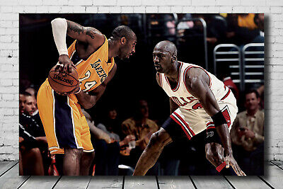 Art Kobe Bryant VS Michael Jordan Basketball MVP Poster 14x21 24x36 Hot Gift 199