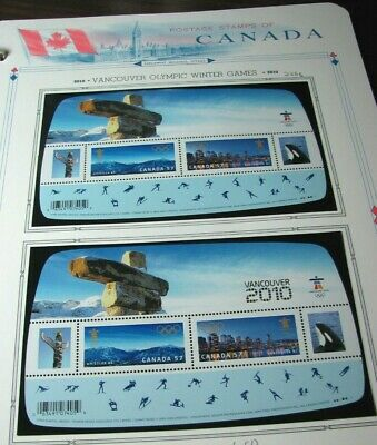 Canada Stamp Scott# 2366,2366C Vancouver Olympic Winter Games 2010  MNH L331