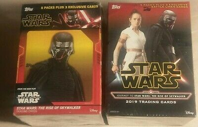 {2} Sealed 2019 Topps Journey To Star Wars: The Rise Of Skywalker Blaster Boxs