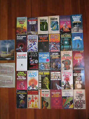 ISAAC ASIMOV Book Collection Lot 32 Paperback Vintage Foundation Science Fiction