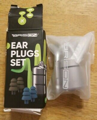 Noise Cancelling Ear Plugs 2 Pair PP3 SNR 20dB 25dB Silicone With Carrying Case